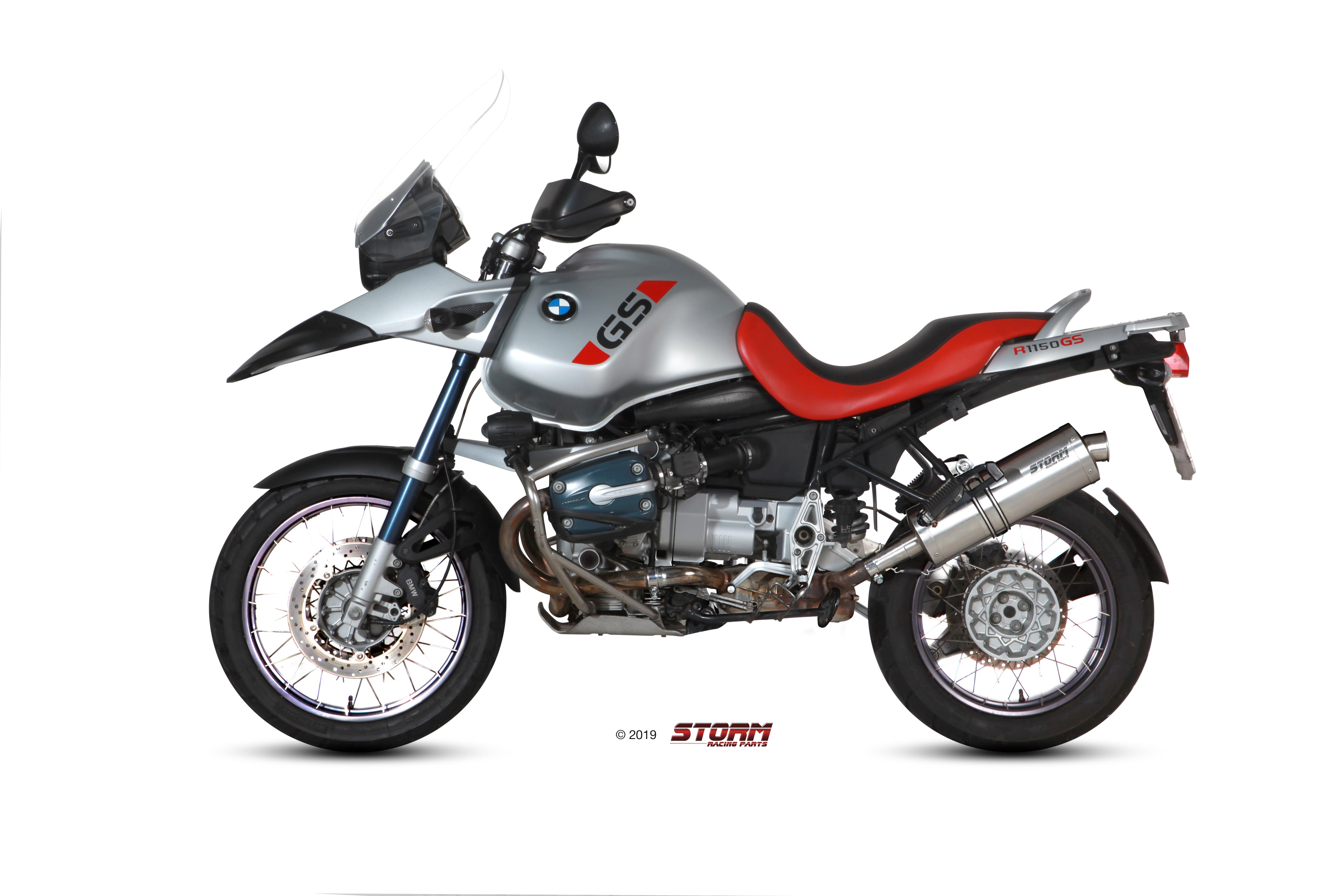 Scarico BMW R 1150 GS / ADVENTURE Storm Oval Inox 74.B.015.LX2