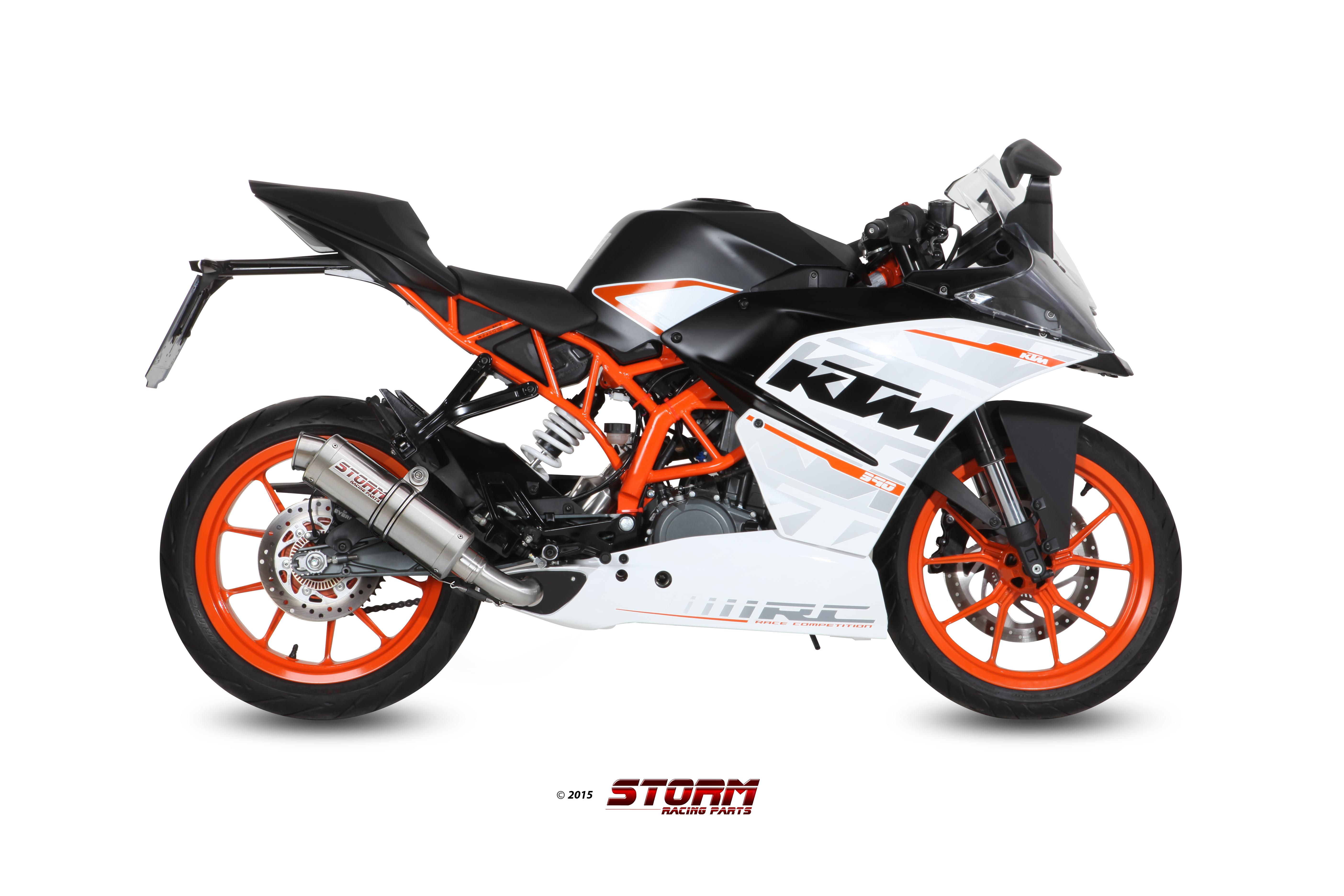 Scarico KTM RC 390 Storm Gp Inox KT.015.LXS