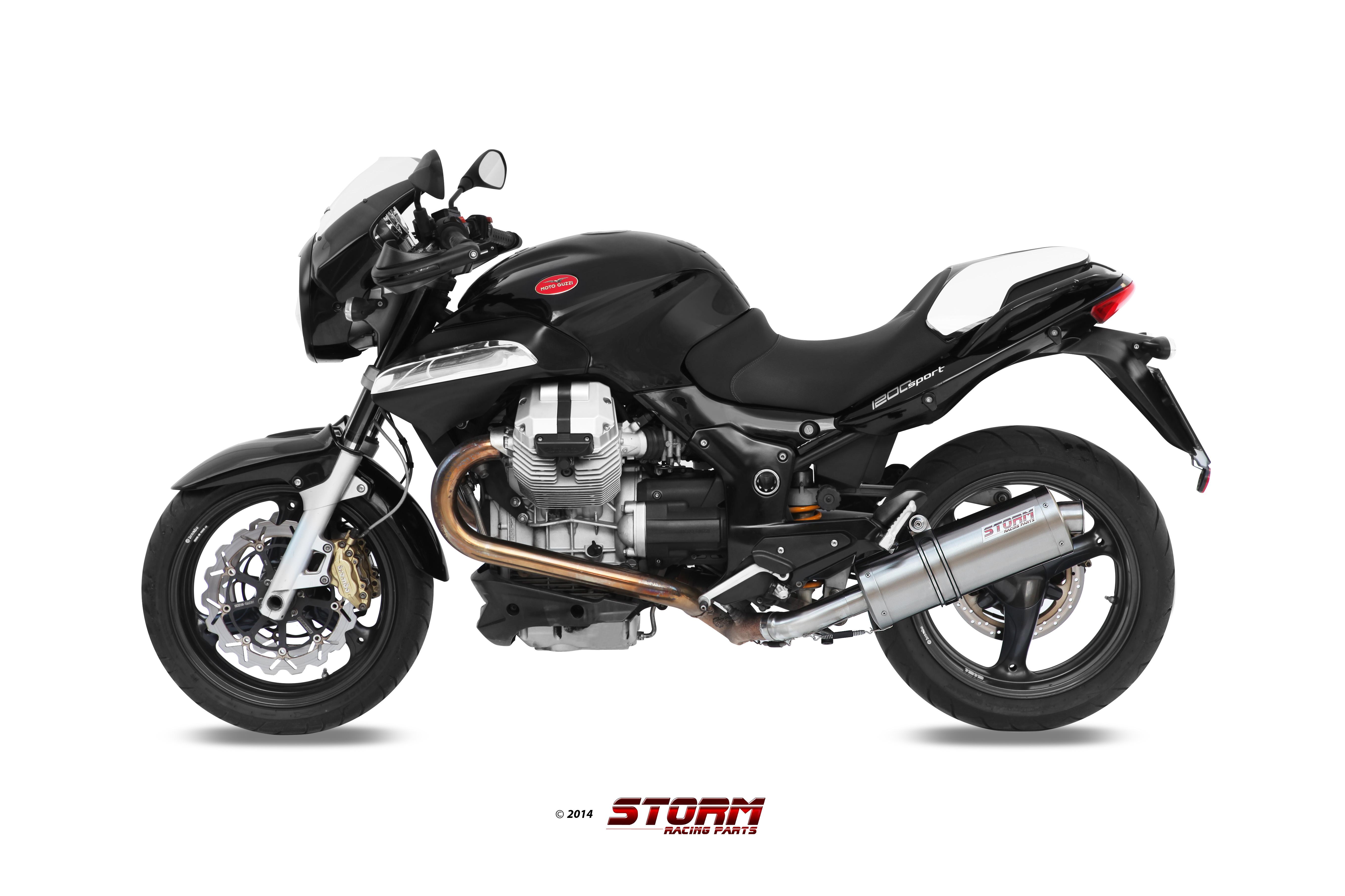 MOTO GUZZI BREVA 1200 Exhaust Storm Oval Stainless steel 74.M.008.LX2