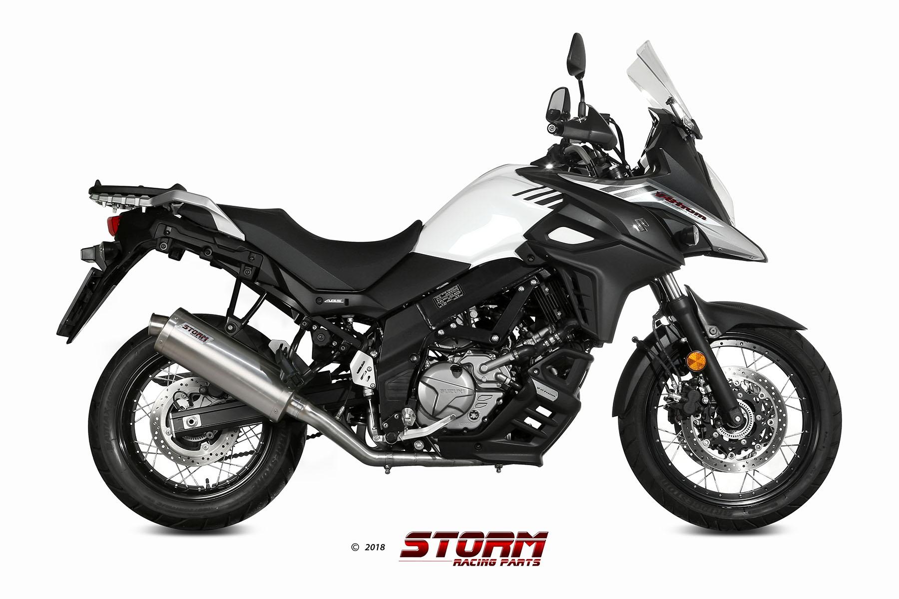 SUZUKI DL V-STROM 650 Exhaust Storm Oval Stainless steel 74.S.049.LX2