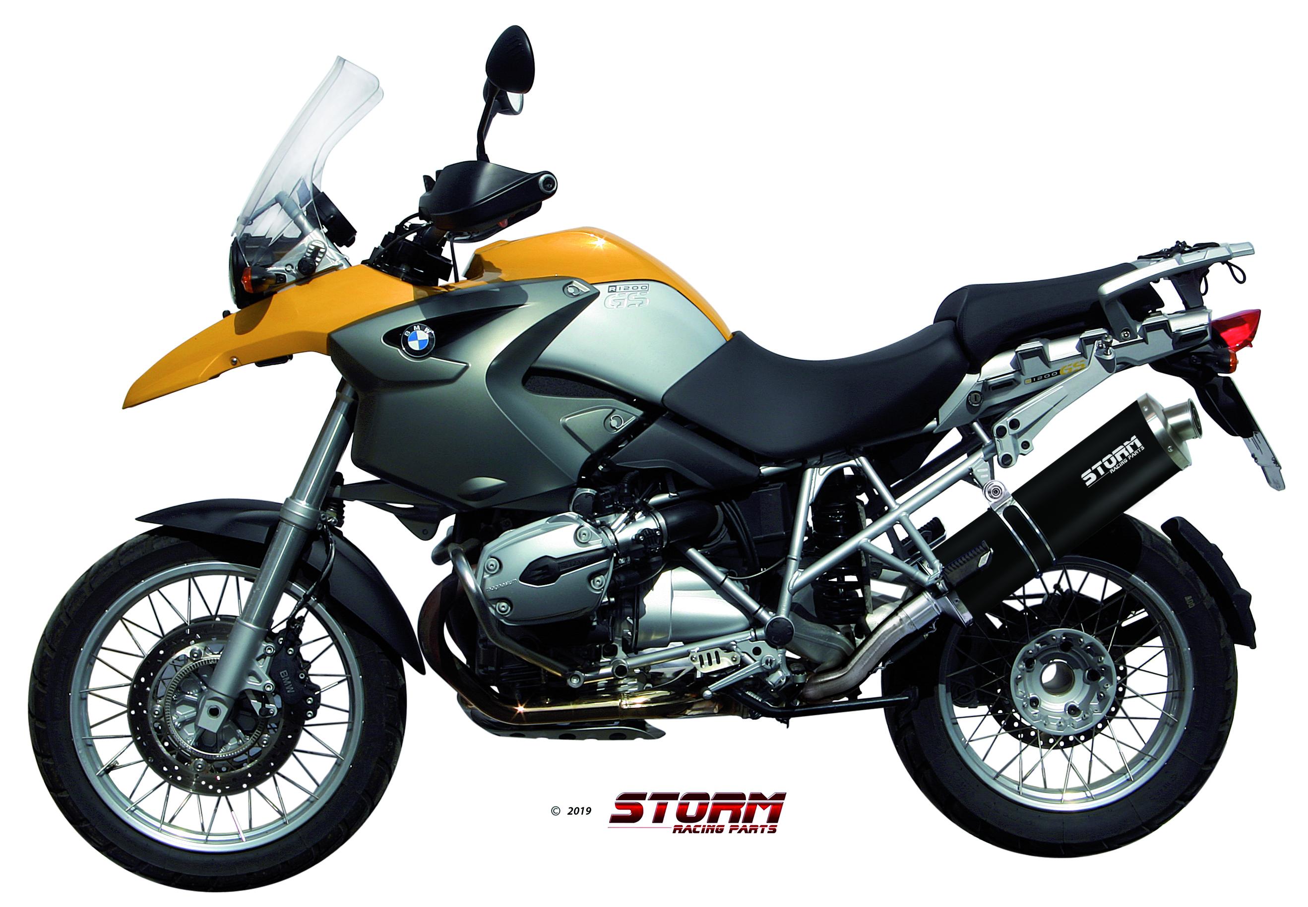 Scarico BMW R 1200 GS / ADVENTURE Storm Oval Inox Nero 74.B.002.LX2B