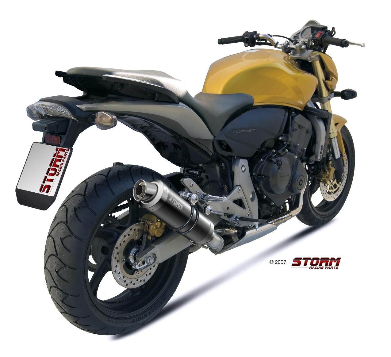 Scarico Honda HORNET 600 Storm Gp Inox negro 74.H.038.LXSB