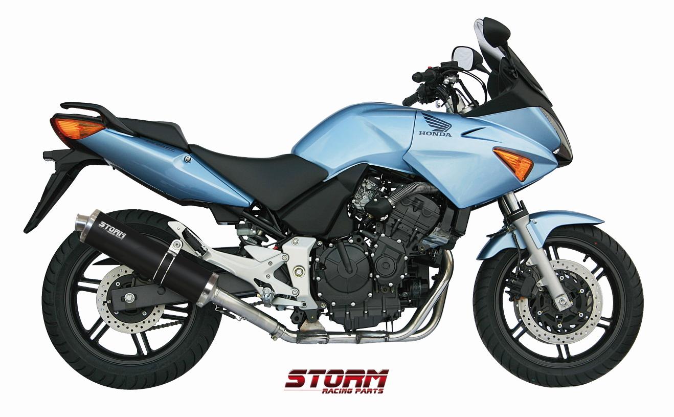 HONDA CBF 600 Exhaust Storm Oval Black stainless steel 74.H.026.LX1B