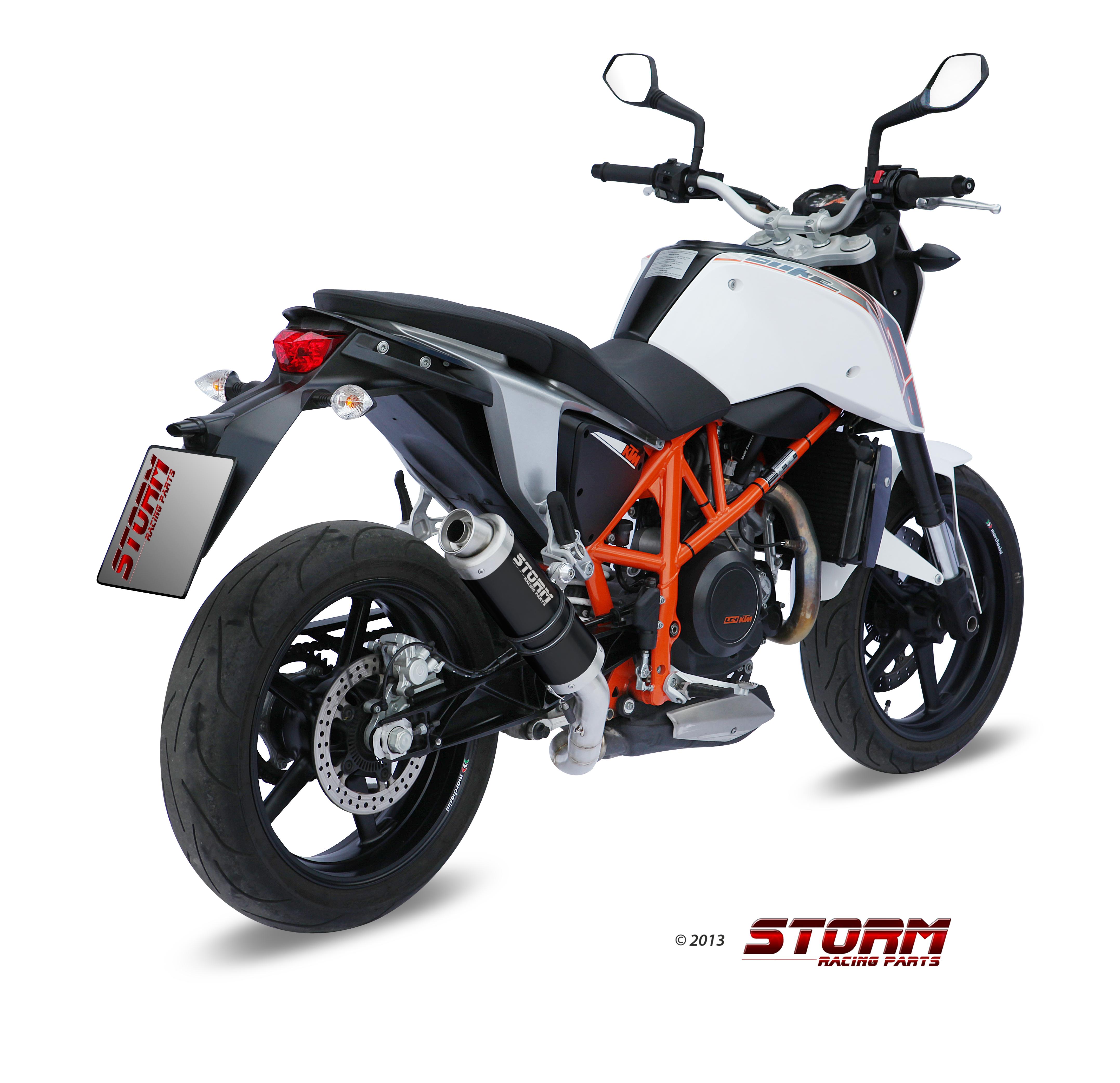 Scarico KTM 690 DUKE Storm Gp Inox Nero KT.010.LXSB