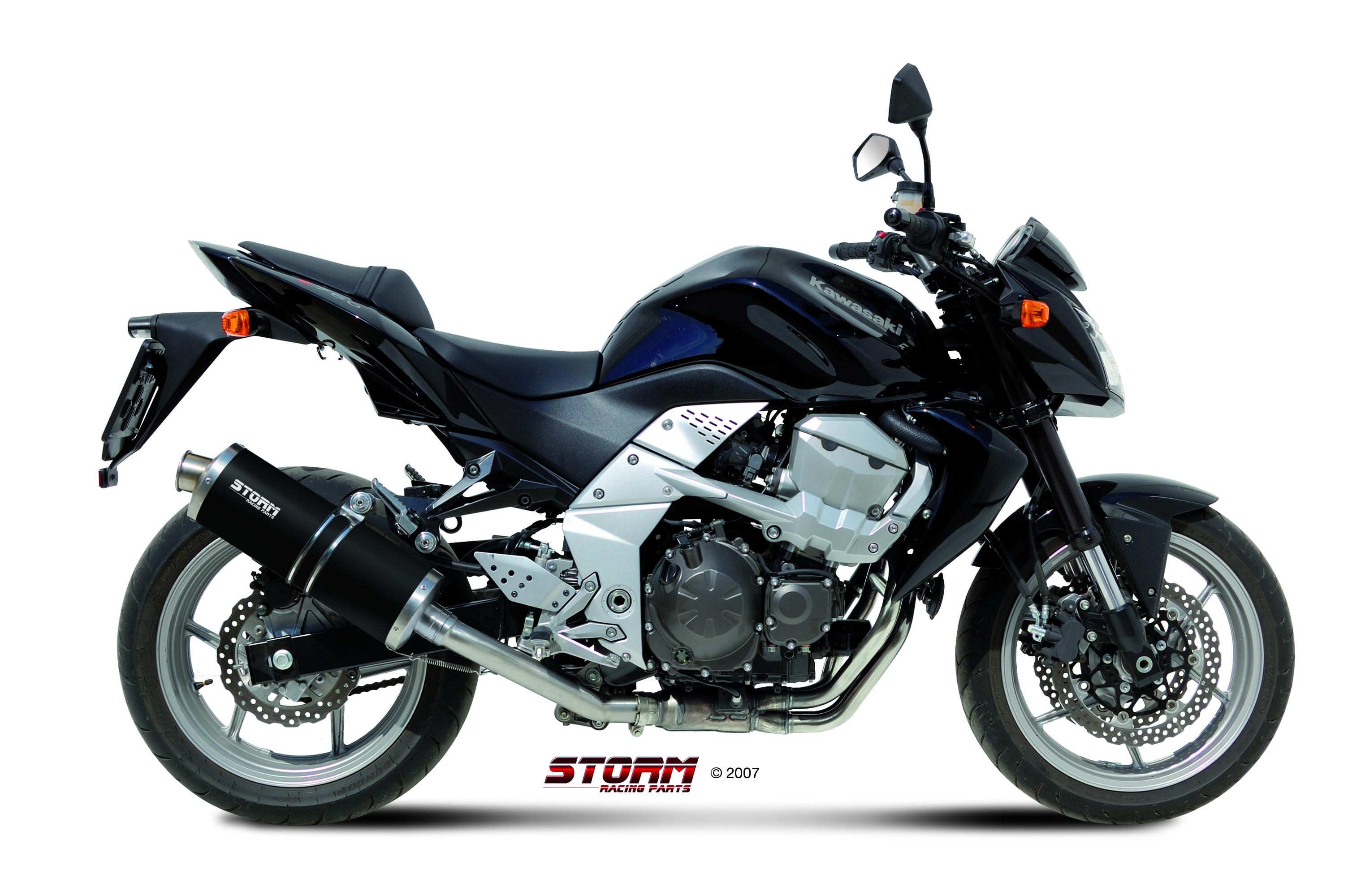 KAWASAKI Z 750 Exhaust Storm Oval Black stainless steel 74.K.018.LX2B