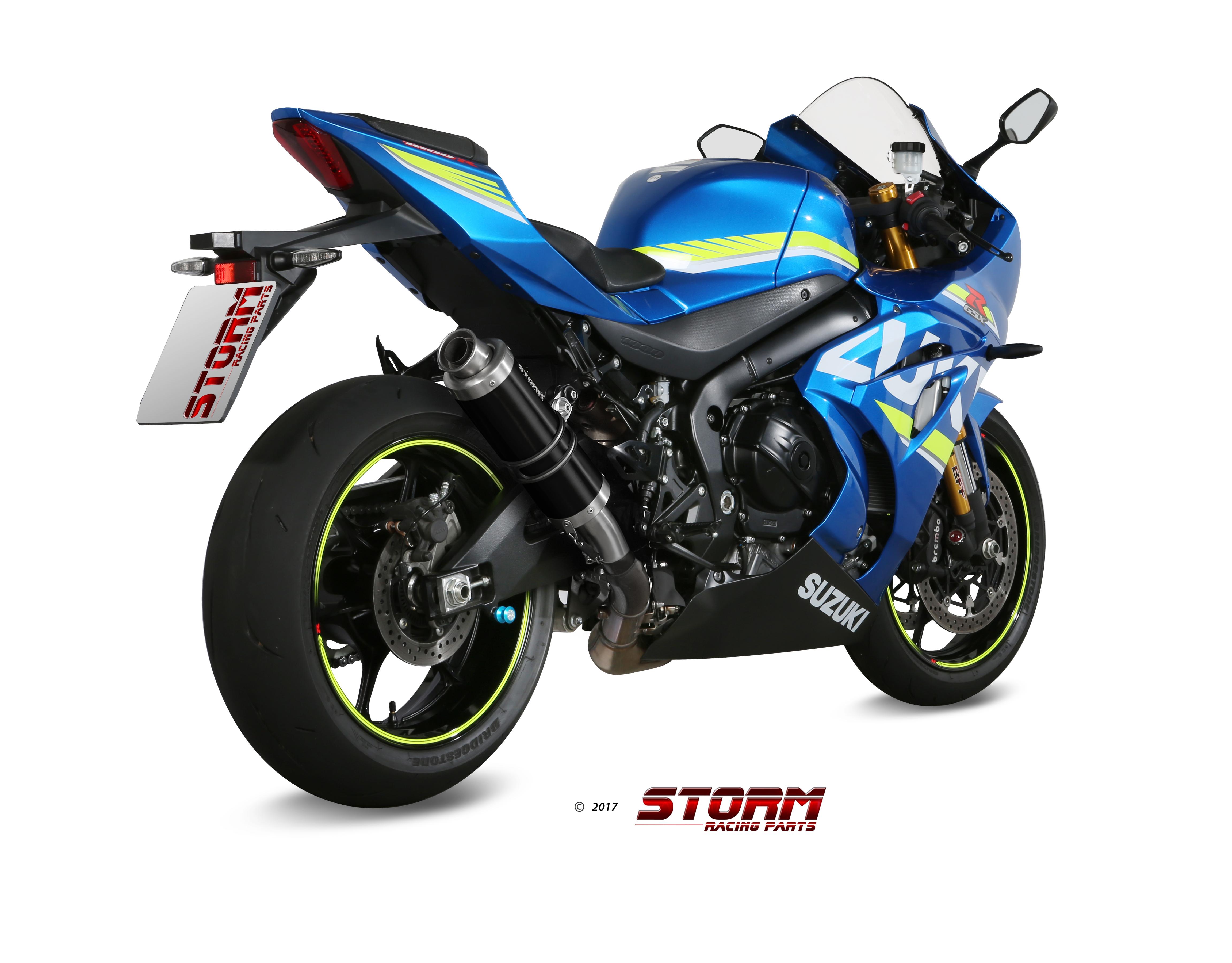 Scarico SUZUKI GSX-R 1000 Storm Gp Inox negro 74.S.050.LXSB
