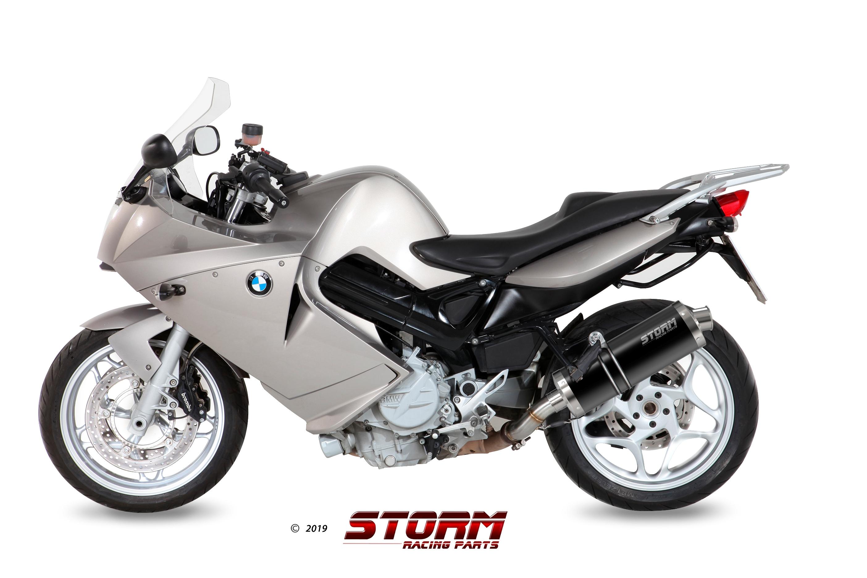 Scarico BMW F 800 S / ST Storm Oval Inox Nero 74.B.023.LX2B