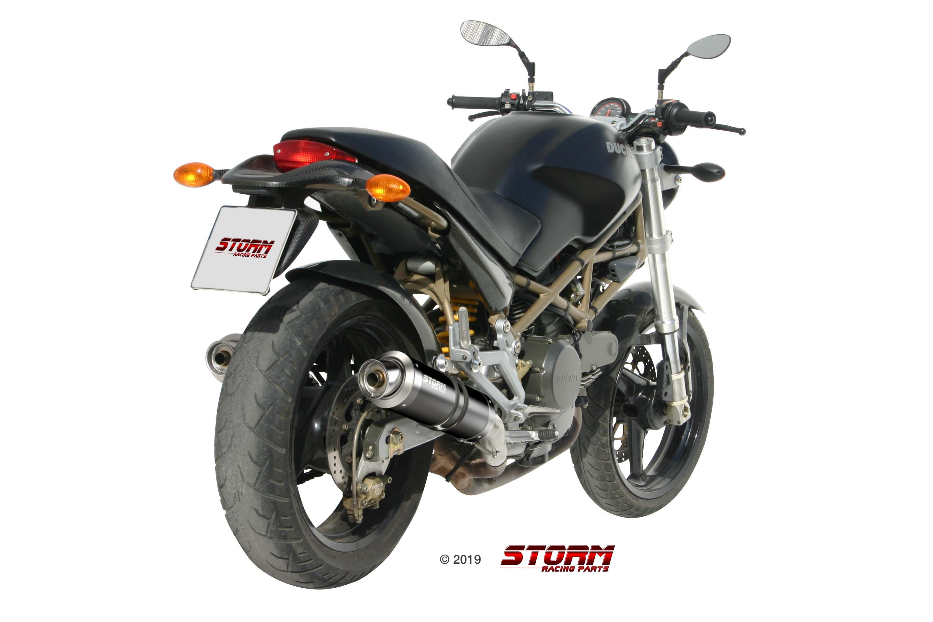 Scarico DUCATI MONSTER 600 Storm Gp Inox Nero D.016.LXSB