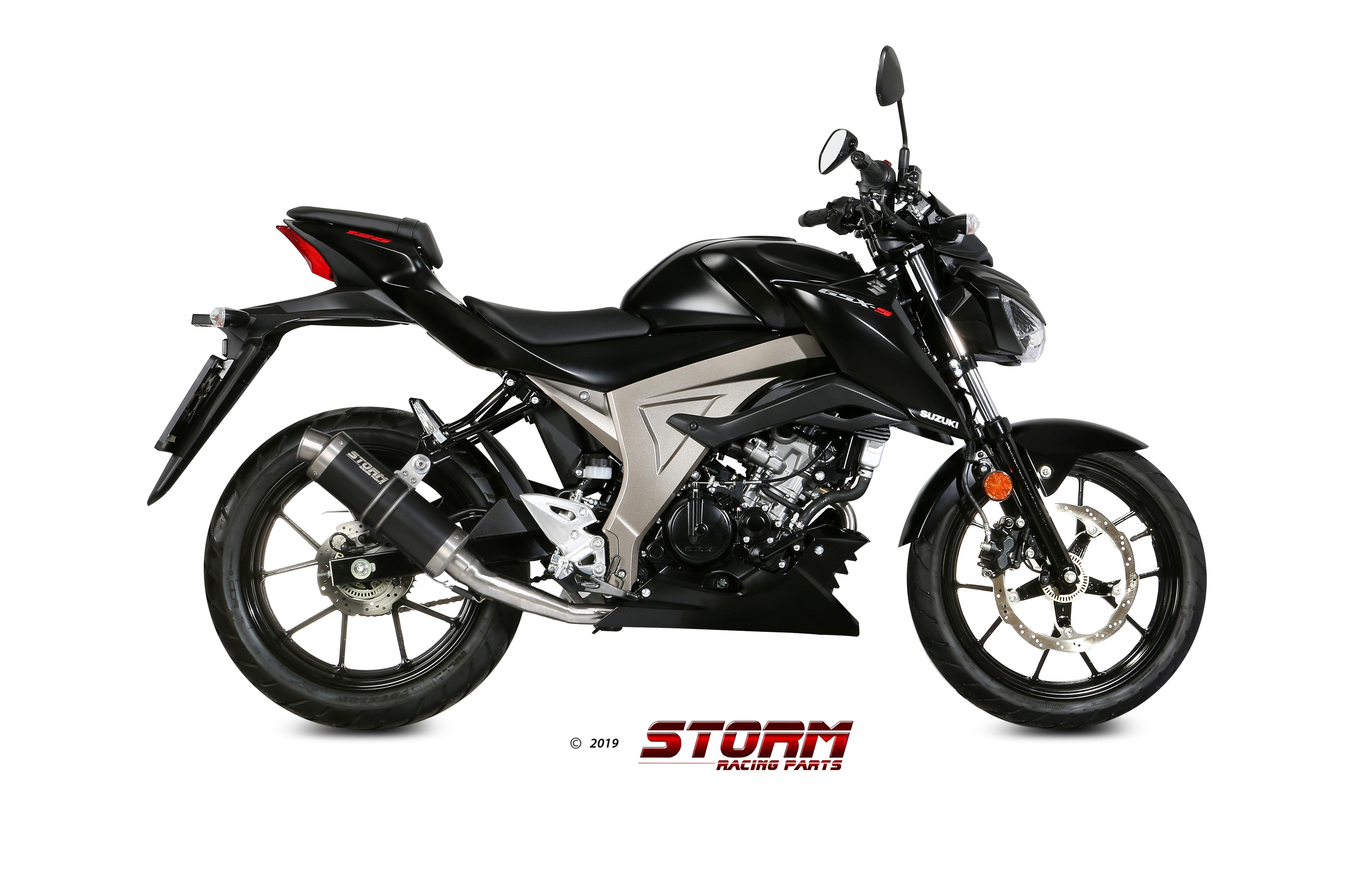SUZUKI GSX-S 125 Exhaust Storm Gp Black stainless steel S.055.LXSB