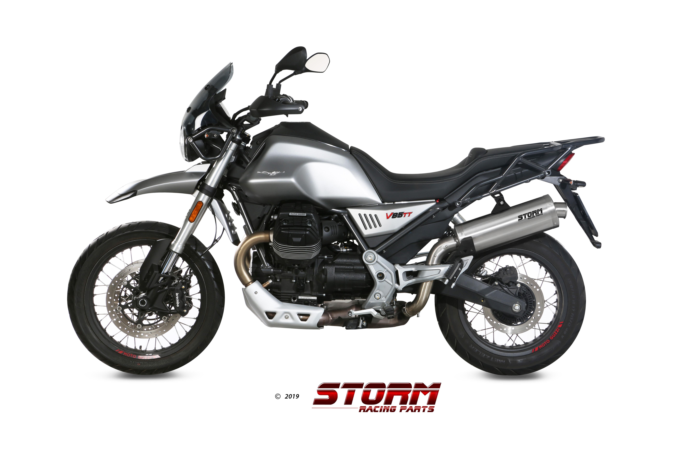 Scarico MOTO GUZZI V85 TT Storm Oval Inox M.013.LX2