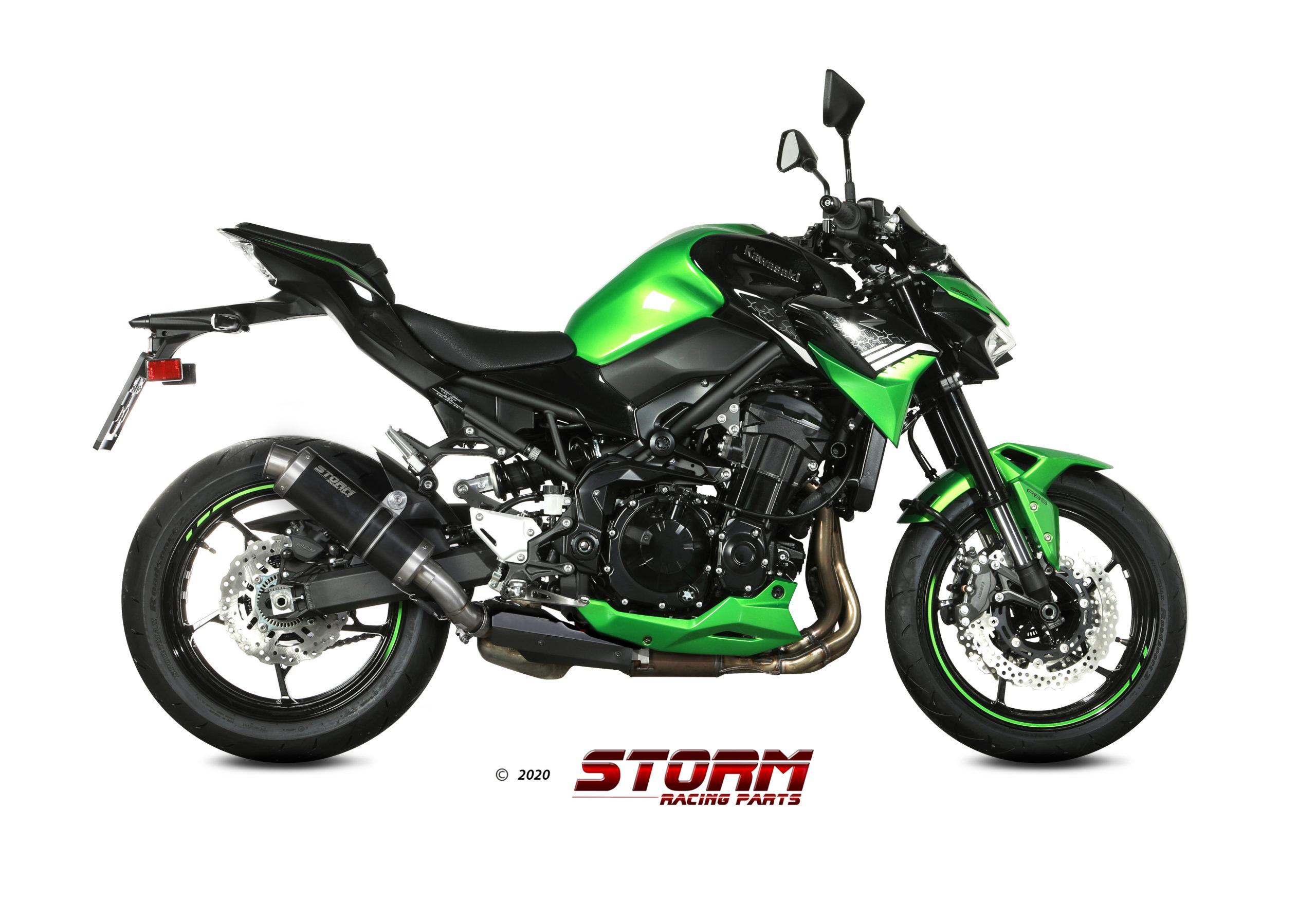 Scarico KAWASAKI Z 900 Storm Gp Inox Nero 74.K.052.LXSB
