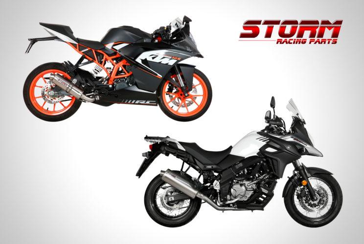 Scarico Storm per Suzuki V-Strom 650 e KTM RC 125